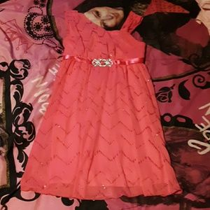 By By Girl girls 12 pink holiday/party dress